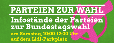 Infostand mit Christian Hohn @ Parkplatz der Verbrauchermärkte | Kierspe | Nordrhein-Westfalen | Deutschland