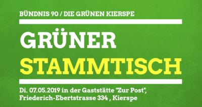 grüner Stammtisch am 07.05.2019