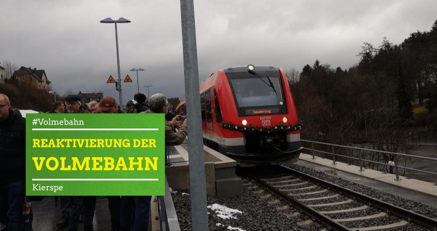 Reaktivierung der Volmebahn am 14.12.2019